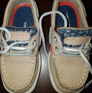 Sperry nautical boat shoes size 7.5 toddler
